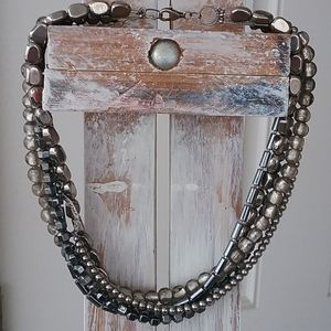 "Silpada ""Hailstone"" Five-strand Necklace"